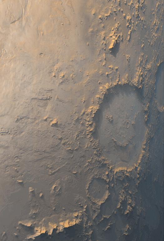 Щастливото лице на Марс – кратерът Гал